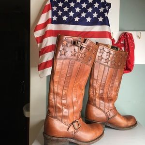 Frye American Flag Boots